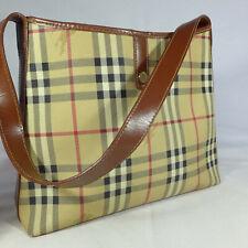 Authentic Rare Vintage Burberry Haymarket Check Medium Shoulder Hobo Handbag VGC