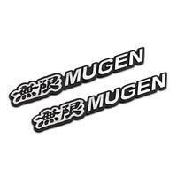 3D Aluminum Black MUGEN Car Front/Rear Badge Fender Body Emblem Decal Stickerx1