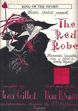 "Walter Woolf ""THE RED ROBE"" Robert Stolz / Maurice Rubens 1928 Sheet Music"