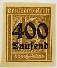 Scott #273a Germany 400 Thousand On 15 pf Not Perforated Stamp Original Gum