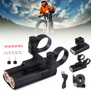 Super Bright MTB Waterproof Bike Cycling Front Light USB Rechargeable T6 LED UK