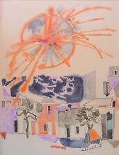 André MARCHAND (1907-1997) Aquarelle années 60 Provence Arles Nle Ecole de Paris