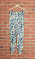 Fee Red Floral Cuffed Trousers Size Small