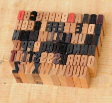 "A-Z alphabet 0.55"" letterpress wooden printing blocks wood type vintage print.."