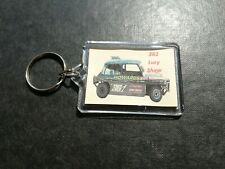 LUCY SHAW 361 MINI SHALE CAR DOUBLE SIDED KEYRING BRISCA STOCK CAR RACING
