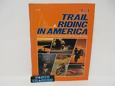 Vintage AMA Trail Riding In America Magazine Off Road Riding Guide State Maps