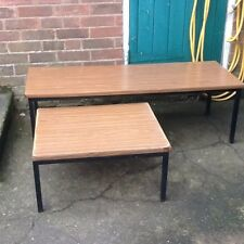 Two Vintage Formica / Melamine Top Tables With Metal Frame & Legs ..project