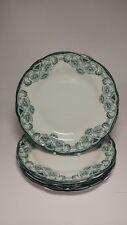 "Set of FIVE Antique c1890s New Wharf Pottery Berkley 9 1/8"" Luncheon Plates"