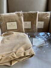 Set of 4 Pottery Barn Megan Chair Slipcover Velvet Oat