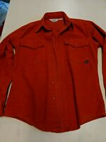 Vintage Duxbak Chamois Flannel Shirt Size Small Orange Camp-it