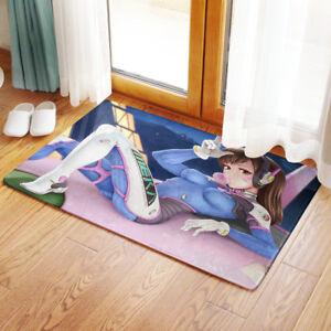 NEW Game DVA OVERWATCH WC Bedroom Bathmat Rug Toilet Floor Cover Carpet Non-slip