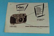 La pubblicità/Pubblicità-ORIGINAL 1953-ROBOT ROYAL + Stricker marchi RUOTE +./s83