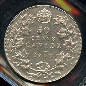 1902 Canada Fifty Cents ICCS AU-58 - Nice original coin
