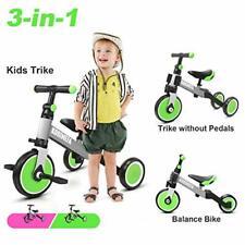 Korimefa 3 in 1 Kids Trike for Children 1-3 Years Old Kids Tricycle (Green)