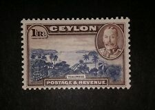 Ceylon sg378 1935 1r viol-blue and chocolate. Mounted mint.