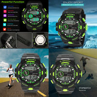 Luxury Men Watch Sport Waterproof Watch Analog Digital Military LED Wrist Watch