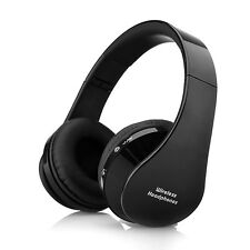 Bluetooth Wireless Foldable Headset Stereo Headphone For iPhone Samsung (Black )