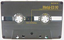 SONY METAL-ES 90 vintage audio cassette blank tape used Made in Japan Type IV