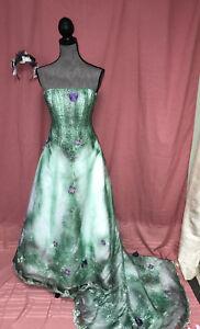 FOREST fairy wedding dress COSTUME size 2 P Halloween cosplay OOAK corpse bride