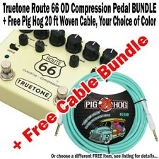 TRUETONE V3 Route 66 Overdrive Comp + FREE Pig Hog 20 ft Woven Cable BUNDLE NEW