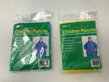 "Children/'s Vinyl Rain Poncho Child/'s Kids available in 6 colors 45/"" x 72/"""