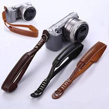 PU Leather Camera DSLR Hand Grip Fashion Wrist Strap Belt Lanyard