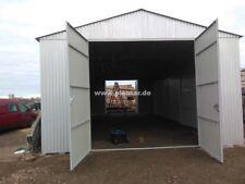 Blechgarage 4x8 aus verzinkten 4-Kantprofil Holzdeko Halle Garage KFZ Lager NEU