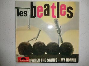 """Les Beatles """" When the saints-My Bonnie 1964 Polydor original EP 21914 MINT !"""