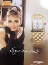 51401 Ephemera 2004 Advert Longines Dolce Vita Watch Elegance