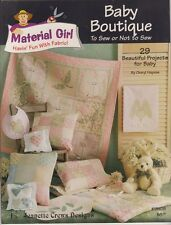 "1 Material Girl Baby Boutique"" Quilt Pattern Book  Jeanette Crews Designs"