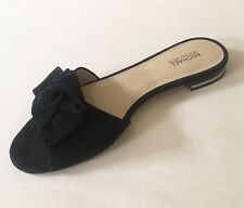 Women MK Michael Kors Willa Slide Sandals Suede Black