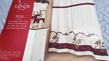 Lenox Christmas Shower Curtain Holiday Nouveau Design 72 x 70 Inches