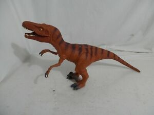 Velociraptor Orange Rubber 2014 Large Dinosaur Jurassic Soft Toys R Us Figure