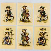 Vintage Hummel Postcards Children Artist Signed Hilde West Germany Lot of 6
