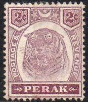 Malaya 1895 Perak Tiger 2c Superb Unmounted MINT Stamp MNH