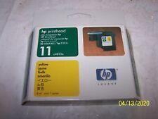 NEW GENUINE HP 11 Yellow Printhead Ink Cartridge New Sealed Box