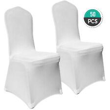 50* Housse de Chaise Couverture Blanc Extensible pour Décoration Mariage Fête