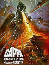 MOVIE FILM GAPPA Frankenstein MOSTER Fire Giappone Arte Poster Stampa lv2204