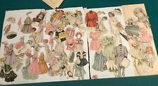 Victorian Paper Dolls And Outfits