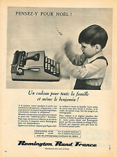 PUBLICITE ADVERTISING 034   1961   REMINGTON  RAND FRANCE  machine à écrire