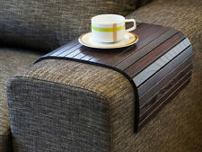 SOFA TRAY TABLE BROWN, TV tray, Wooden Coffee table, Lap desk for small spaces