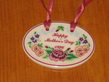 1996 Longaberger Baskets Pottery Mother's Day Tie On Nib Usa Floral New Nib