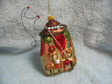 Fisherman Vest w/ Lures and Rod & Reel Fishing Pole Glass Ornament