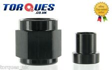 "AN -4 (AN4 7/16"" UNF 4AN ) 1/4"" Hardline Tube Nut and Sleeve In Black"