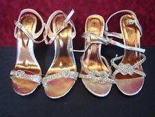 2 Pairs of Gossip Girl Rhinestone High Heels - US Size 6
