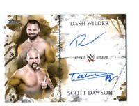 WWE Revival Dash & Dawson 2018 Topps Undisputed Gold Dual Autograph Card SN10/10