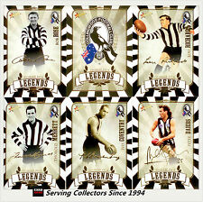 2009 COLLINGWOOD Legend Membership Exclusive Collectable Card Set (6)