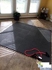 "EVA Foam Puzzle Mat Exercise Gym Equipment Home Floor Play Mats 1/2"" Thick Black"