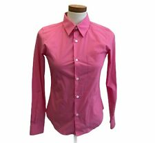 Comme des GARCONS for H & M helle Hibiscus Rosa Button Down Shirt US 2 EUR 32