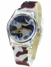 Core Designer Girls Analog Brown Army Camouflage Plastic Strap  Watch